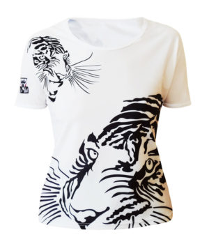 T-shirt femme col rond all over Royal Tiger