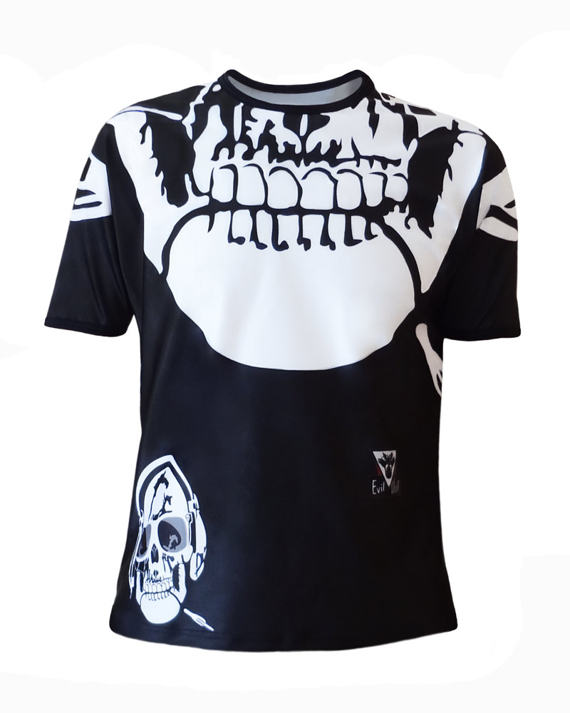 T-shirt Tête de mort Homme - col rond all over by Charles Landston