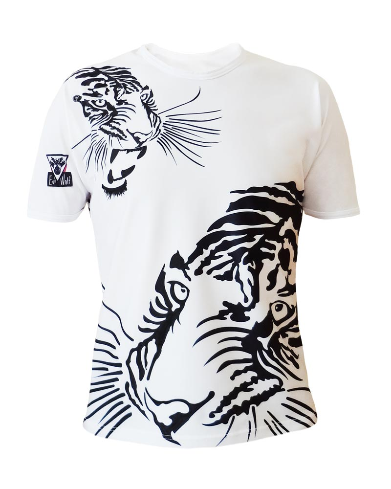 Tiger T-shirt for Man | Made in France | Innovative luxe Microfiber T-shirt round neck all over by Charles Landston