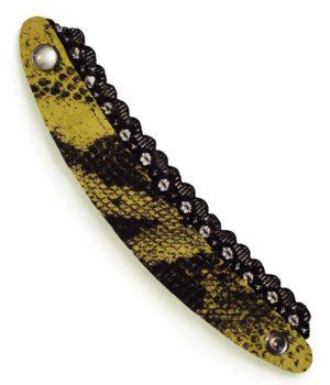 Bracelet femme cuir python dentelle exclusif