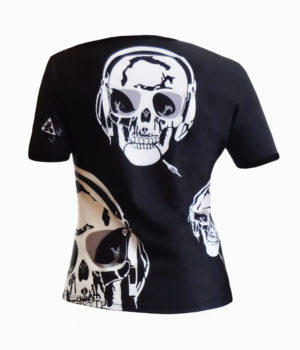 Collection T-shirts L'Exception T-shirt homme col rond all over Skull Music