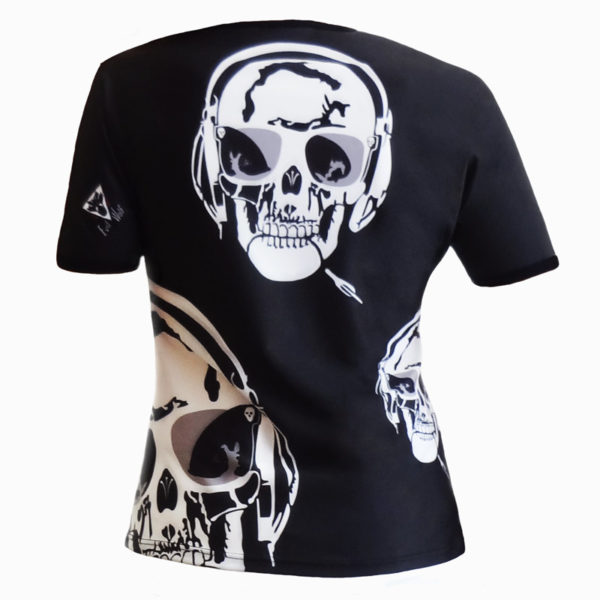 T-shirt femme all over Skull Music