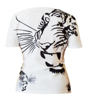 Collection T-shirts L'Exception T-shirt femme col rond all over Royal Tiger
