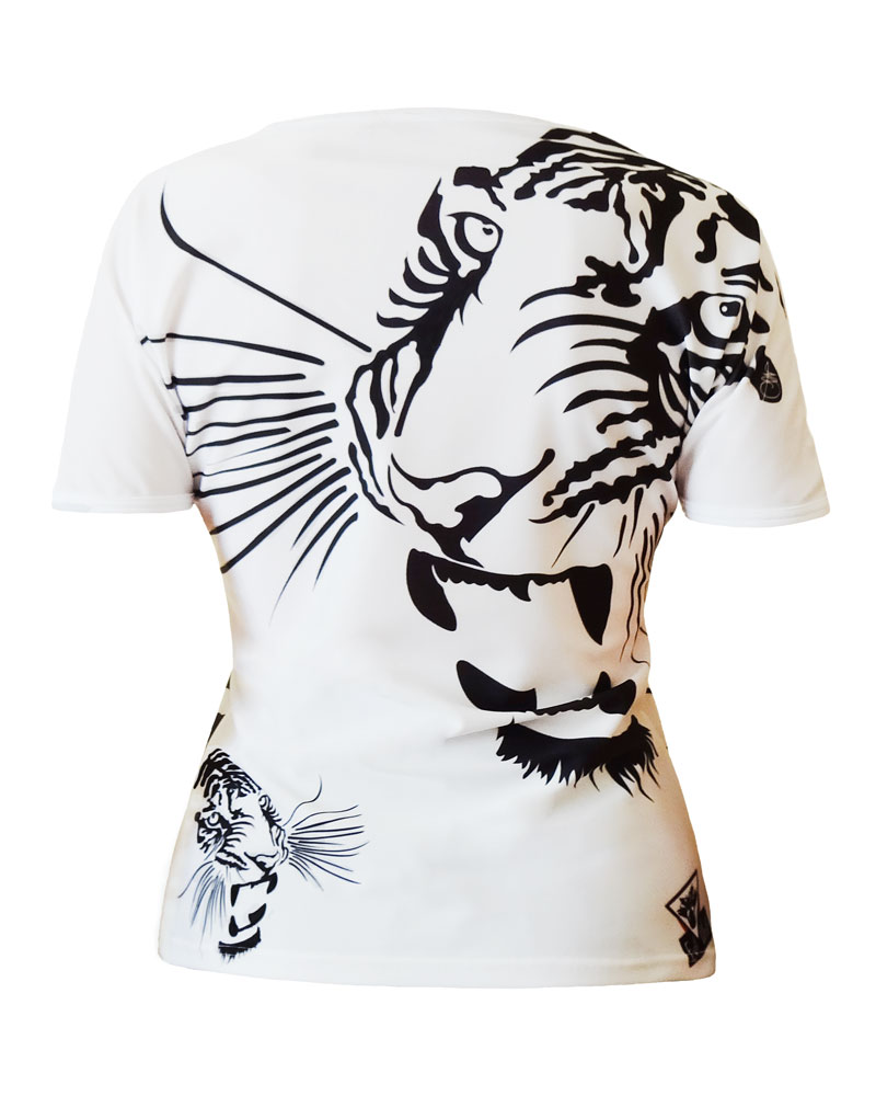 Women's T-shirt all over Royal Tiger made in France MIF EXPO