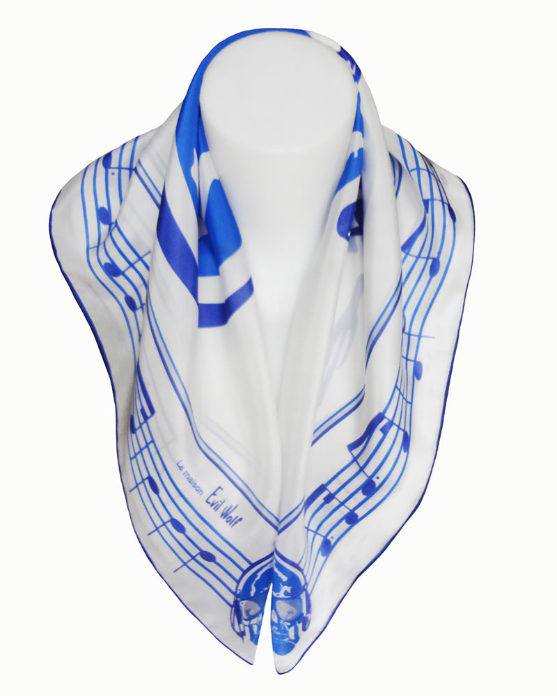 Scarf Shull music Made in France From Lyon high quality