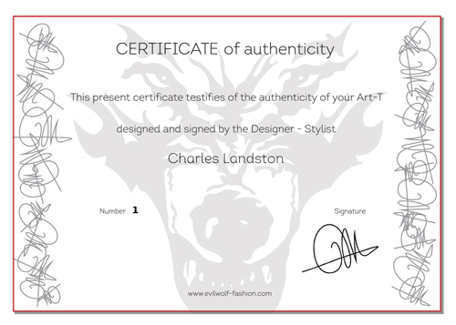 Certificate of authenticity | Art-T numbered, signed by Caroline ...