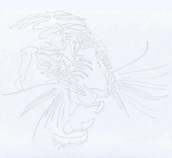 Comment réaliser un dessin au trait en noir et blanc By Charles Landston Evil Wolf