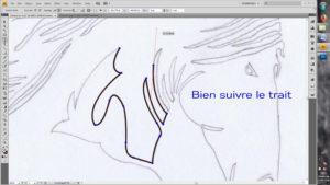 Tracer avec l'outil plume un dessin vectoriel en noir et blanc