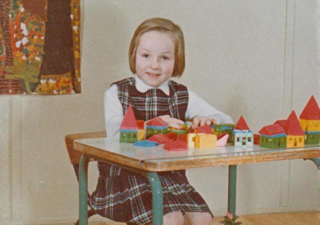 Charles Landston enfant le 12 1971 au prioré
