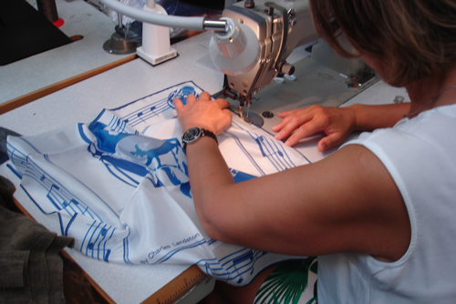 The Manufacturing Process of Silk's Scarf of Evil Wolf. Made in France