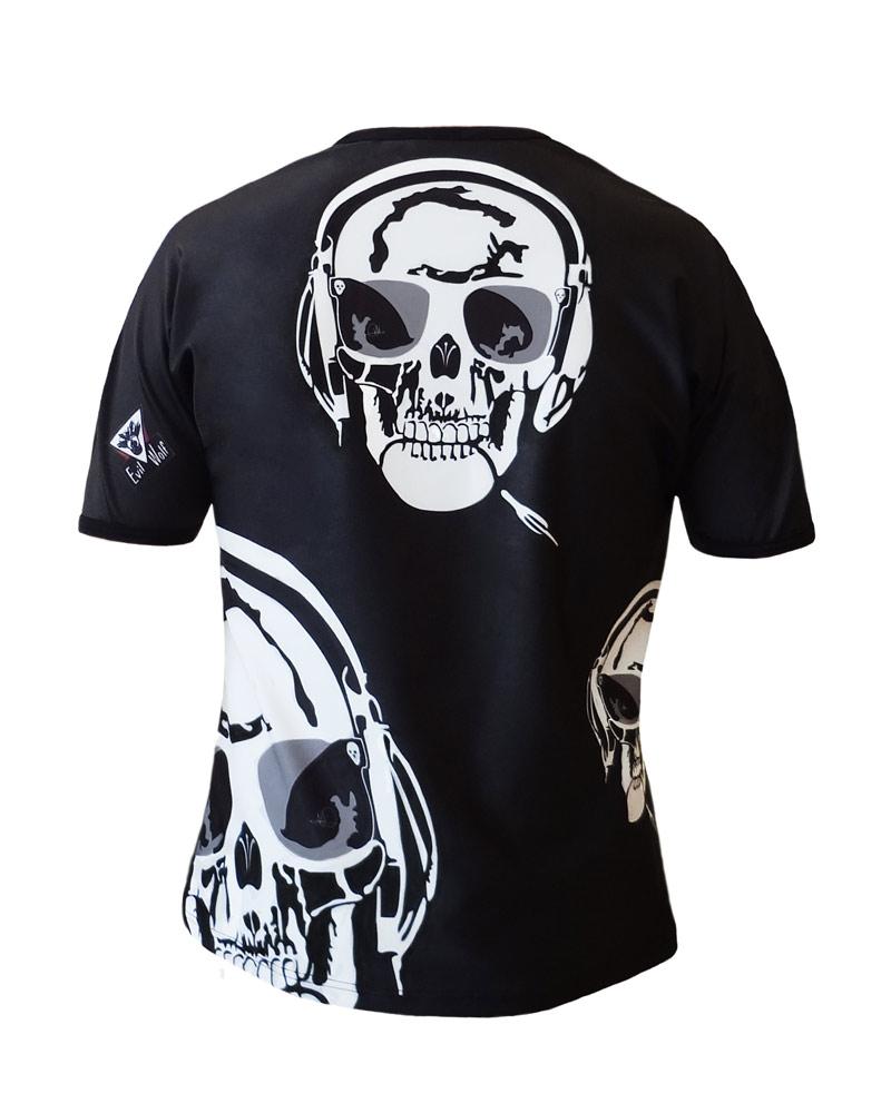 Art-T Man Skull Music Back