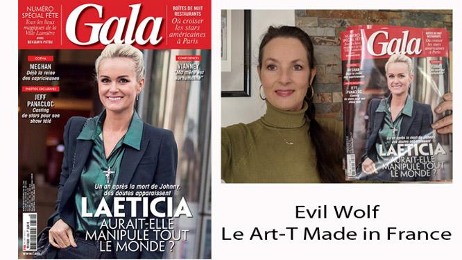 Le Art-T Made in France d'Evil Wolf | Gala magazine du 03 septembre 2018 | Charles Landston est une créatrice polymorphe | Mix Mode-Art unique | Charles Landston ou l'inaltérable créativité !