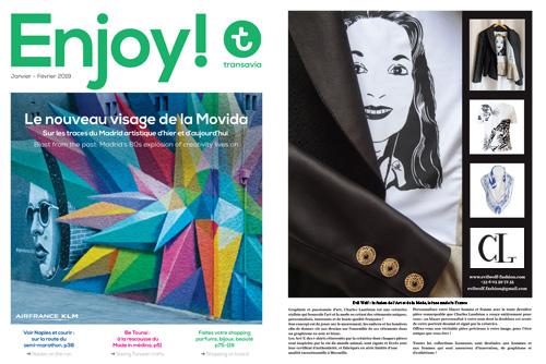 « Enjoy ! » - Transavia magazine Parution en janvier et février 2019 dans le magazine « Enjoy ! »