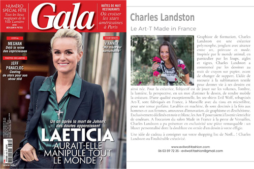 GALA magazine Parution le 05 12 2018 dans le dossier « Spéciales fêtes »
