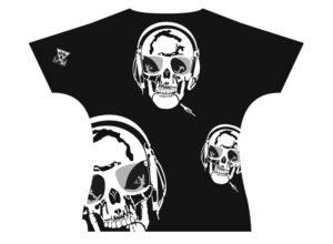 Patron de dos du T-shirt Homme Tête de mort | Fabriqué en France | T-shirt microfibre de haute qualité de luxe