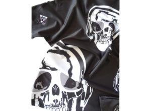Ses détails d'importance du t shirt Art-T tête de mort by Charles Landston. Satiné, soyeux, microfibre, confort