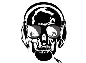 Le Art-T, le t-shirt qui se distingue par son Art ! Dessin de la tête de mort vectorisée. La tête de mort by Charles Landston