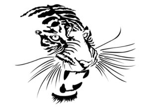 Le Art-T, le t-shirt qui se distingue par son Art ! Le Tigre vectorisé by Charles Landston