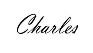 Signature de Charles Landston la designer styliste de la marque et fondatrice