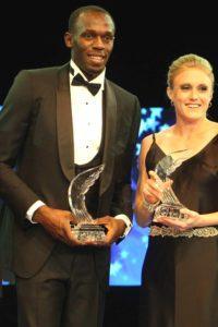 Homme de morphologie V - Usain Bolt porte un costume ajusté 3 pièces