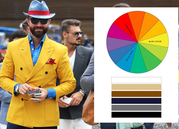 How to associate colours in men's clothes ? The perfect clothing style is now a question of colour association. The importance of good colour language !