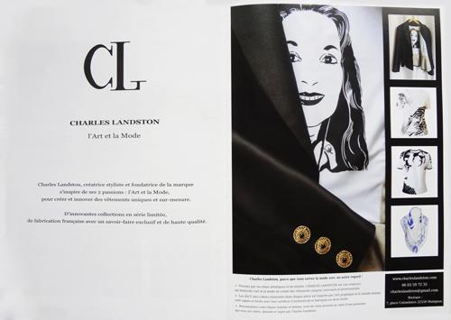 Presse - La Tour Immo N°10 - Article sur Charles Landston. Et sa marque dont elle est fondatrice