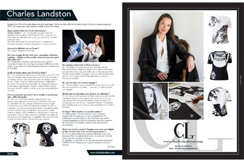 Presse - Maison Actuelle N°60 - été 2019 dans lequel se trouve un interview avec Charles Landston sur une double page