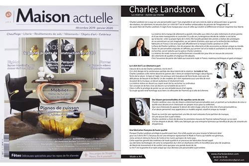 Presse - Maison Actuelle N°60 - été 2019 dans lequel se trouve un article sur Charles Landston et sur sa marque