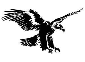 Blazer homme personnalisable_Doublure au dessin de l'aigle par Charles Landston la créatrice et styliste_Dessin vectoriel en noir et blanc