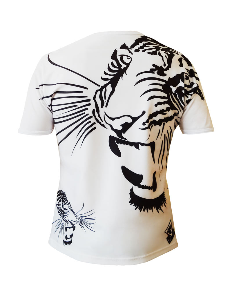 T-shirt-Art-T-tigre-homme dos-Création unique de Charles Landston-Made-in-France